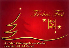 5 GOLDNUGGETS + Zertifikat Weihnachtsgeschenk Gold Nuggets Nugget Weihnachten
