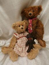 USA made mohair  River Hills Bears by Edda Seiple LE Edward 11/25 Girl 13/35 lot