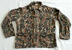 Vintage Duck / Frog Skin Camo Hunting Uniform Coat Shirt Size Medium Camouflage