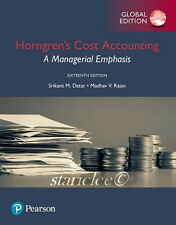 NEW 3 Days 2 AUS Horngren's Cost Accounting 16E Charles T. Horngren 16th Edition