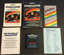STARMASTER - ATARI GAME - 2600 - WITH BOX AND MANUAL - ACTIVISION - VINTAGE