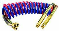 """SLOAN TRANSPORTATION 451042NB - Coiled Air with Brass Handle, 15' with 40"""" Lead,"""