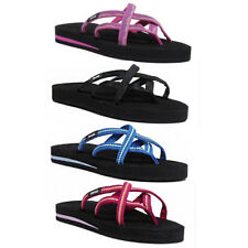 b46daff90b6ac7 Teva Olowahu Women Other Fabric Vida Raspberry Flip Flops Size UK 3 - 8