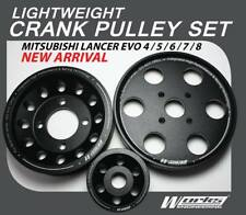 Works Engineering Light Weight Crank Pulley EVO4 - EVO8  (3pcs) Pulley kit