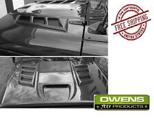 Owens Products Venom Vented Hood for 07-18 Jeep Wrangler JK JKU J15001 Unpainted