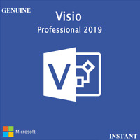 VISIO 2019 PRO PROFESSIONAL GENUINE + DOWNLOAD LINK + INSTANT DELIVERY