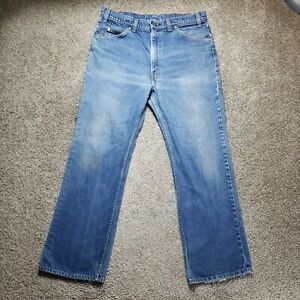Vintage Levis 517 Orange Tab Boot Cut Made In USA Mens Blue Jeans Size 36x30