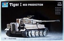 U S Dealer Trumpeter 1:72 Scale Famous German WWII Tiger I Mid Production Kit