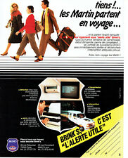 Publicité Advertising 107  1984   Brink's   alarmes alertes utiles *