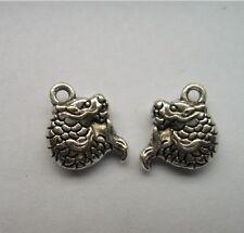 30pcs Tibetan silver arowana charms pendant 12x10mm