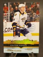 2014-15 Upper Deck Exclusives Spectrum #231 Colton Sissons Young Guns 2/10 YG