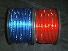 PER 5 FT 8 GAUGE SPEAKER WIRE RED BLUE CABLE AWG STEREO CAR HOME MONSTER SUBS