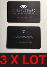 3 X Signal Guard RFID  Contactless Credit Card Protector (JUST PLACE IN WALLET)