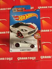 14 Corvette Stingray #107 White Hot Wheels 2016 Case B