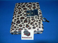 NEW TAN / BROWN ANIMAL PRINT DIARY WITH A BUILT IN LOCK AND 1 KEY FREE SHIPPING