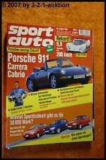 Sport Auto 4/94 Porsche 911 Carrera Cabrio Lotec C 1000