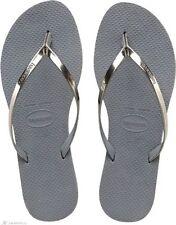 Sandali e scarpe Havaianas argento per il mare da donna