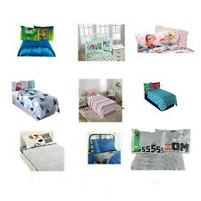Kids Bedding Set 3 Piece Twin Sheet Set - Flat Sheet, Fitted Sheet & Pillowcase