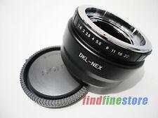Voigtlander Retina DKL Lens to Sony E NEX 7 NEX C3 5C 5N a6000 a7R adapter + CAP