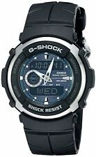Casio G300-3AV Green G-SHOCK Mens, Analog-Digital, Black Sports Watch G-300