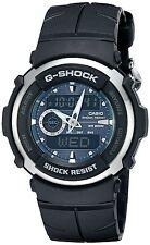 Casio G300-3AV Green G-SHOCK Mens, Analog-Digital, Black Sports Watch G-300