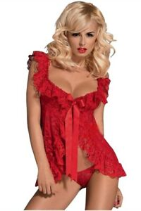 Plus Size Ladies Red Lace Baby Doll 4XL - 6XL Sexy Lingerie