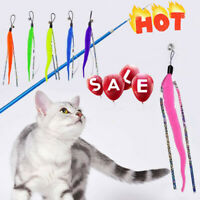 Cat Kitten Soft Play Playing Toy Teaser Rod Wand With Bell Toys