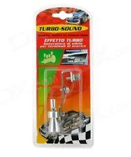 Turbo Sound Exhaust Muffler Pipe Whistle Blowoff Valve BOV Simulator Whistler ♀♂