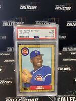 Lee Smith 1987 Topps TIFFANY #23 PSA 9 MINT! Chicago Cubs! CARDINALS Yankees HOF