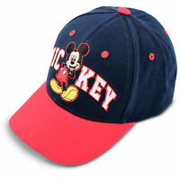 Disney Kids Hat for Toddler Ages 2-7 Mickey Mouse Baseball Cap, Red/Blue, Little