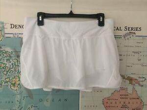 Lululemon Hotty Hot Photo Finish White Skirt Shorts Underneath Women's Size 10