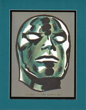 SILVER SURFER 'HEAD' PRINT PROFESSIONALLY MATTED Marvel Fantastic Four