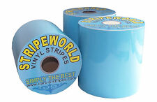 150mm light blue vinyl stripe sold by metre for car caravan self adhesive