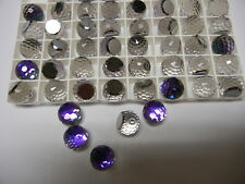 12  swarovski crystal 3/4 flatback disco balls,12mm heliotrope Z #4861