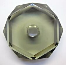 New listing Vintage Crystal Glass Lamp Prism Spacer Break 6 Sided Hexagon Gray Smoked Repair