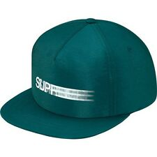 SUPREME Motion Logo Iridescent 5-Panel Teal box logo camp cap tnf cdg S/S 16