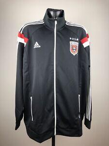 Men's Adidas D.C. United Black Anthem Performance Full Zip Track Jacket NWT 2XL