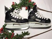 Bauer 300 Impact Ice Hockey Skates Size Youth 10R Blade Black TUUK