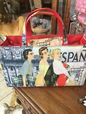 Celebrity Handled Fabric Travel Cosmetic Toiletries Makeup Bag ,