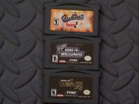 Lot Nintendo Game Boy Advance GBA Games Fire Pro Wrestling + Road to WrestleMani