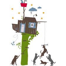 Stickers Adhésifs GÉANT Muraux Décorations Chambre Enfant CABANE ARBRE KIDSLAB