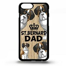 St bernard dad dog phrase quote cartoon cute puppy pet graphic phone case cover