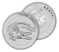 2014 Australian Saltwater Crocodile 1 oz $1 silver coin