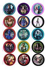 15 Precut DC & Marvel Villianess' Poison Ivy Qunn, Cat Woman Bottle Cap Images