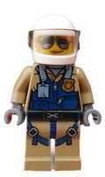 Lego Polizist Hubschrauberpilot Pilot Berg Polizei Minifigur Figur cty0832 Neu
