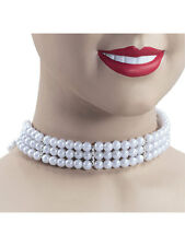 1920s Flapper Charleston Pearl Choker Necklace Fancy Dress Gatsby Accessory New