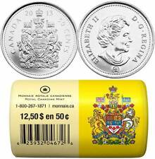 2013 Canada 50 Cents - BU ROLL 25 Coins Special Wrap - E827