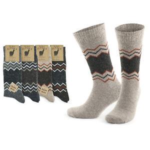 GoWith Alpaca Unisex Wool Winter Knit Warm Thermal Socks   2 Pairs   Model: 3099
