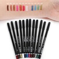 12 Colors Cosmetic Glitter Eye Shadow Lip Liner Eyeliner Pencil Pen Makeup Set