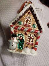 "Christopher Radko ""Sweet Ginger Cottage"" Gingerbread Lge Christmas Ornament NWT"